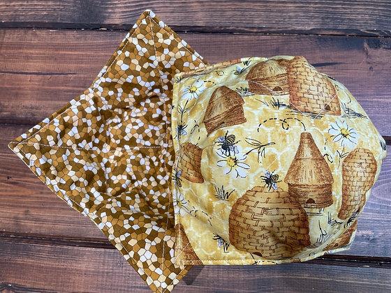Honey bee Microwavable bowl cozy