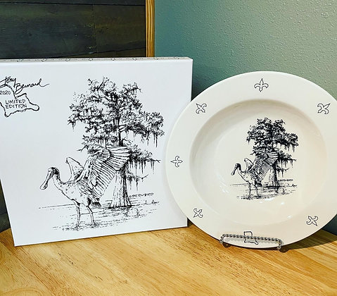 Two bowl boxed set with Spoonbill artist print
