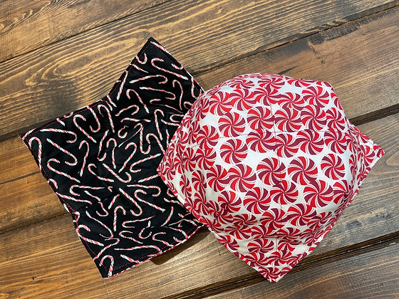 Candy Cane Microwaveable bowl cozy