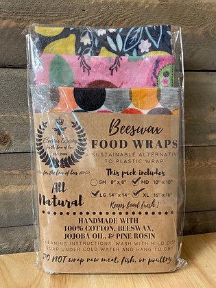 Set of 3 Md/Lg Food Wraps