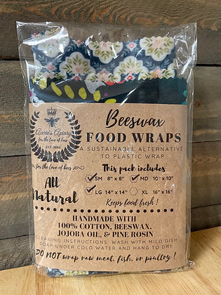 Set of 3 Sm/Md Beeswax Food Wrap