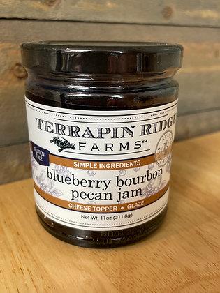 Blueberry bourbon pecan jam