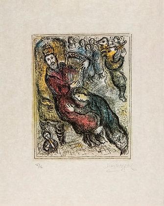 Marc Chagall (1887-1985) - Le Roi David a la lyre