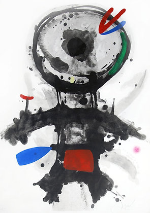 Joan Miro, L'Ange Crible, Aquatint