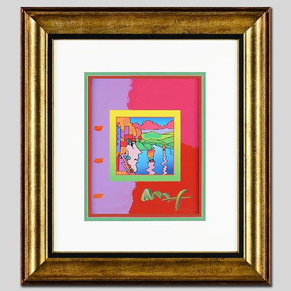 Peter Max mixed media acrylic