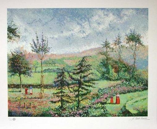 H. Claude Pissarro Serigraph on paper