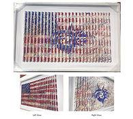 American Flag and Liberty framed 32x48 i