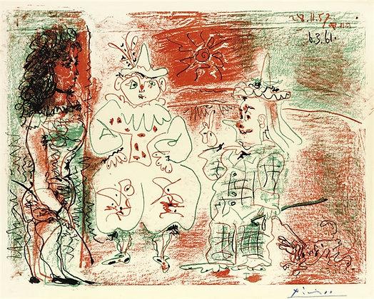 Pablo Picasso L'Ecuyère et les clowns (B. 844; M.