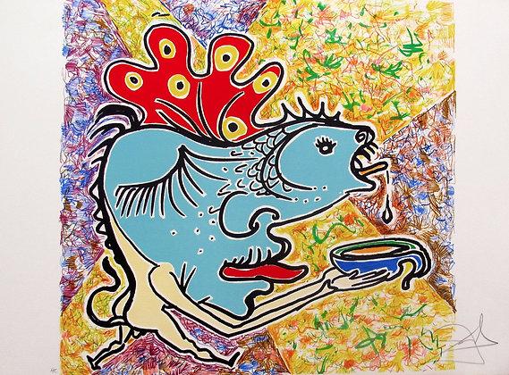 Salvador Dali Hand Signed - LE POISSON FISH