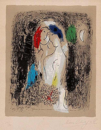 "Marc Chagall ""Lovers in Grey"""