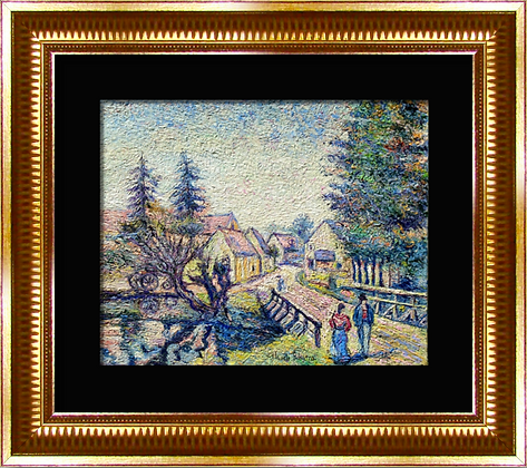 H. Claude Pissarro oil on canvas