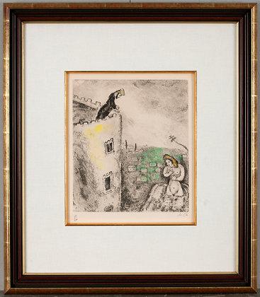 "Marc Chagall ""David and Batsheba"""