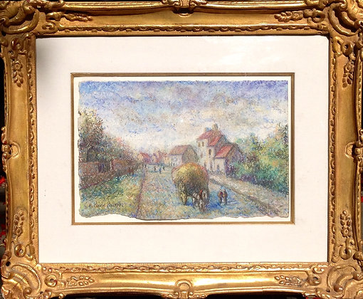 H. Claude Pissarro pastel on paper