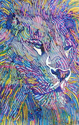 Guillaume Azoulay - Tigris hand signed giclee