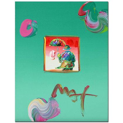 Peter Max mixed media acrylic
