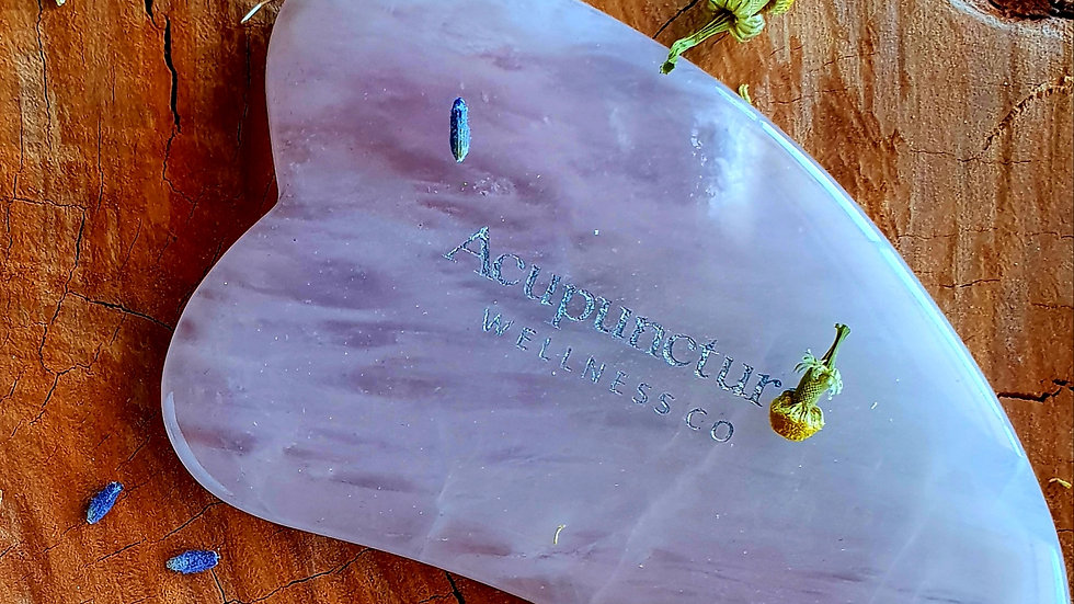 Pure Rose Quartz Gua Sha