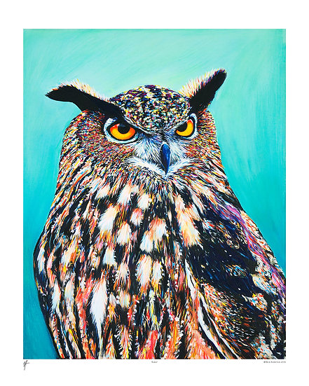 'Bubo' Signed Print