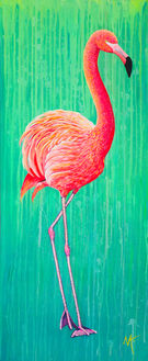 'Flamingo' (2017) - SOLD