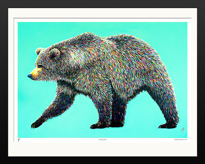 'Bear Necessities' Signed Print