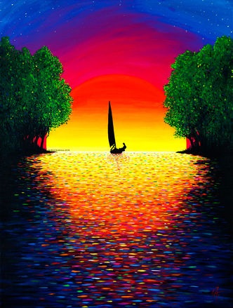 'Sunset Sail' (2018) - Commssion