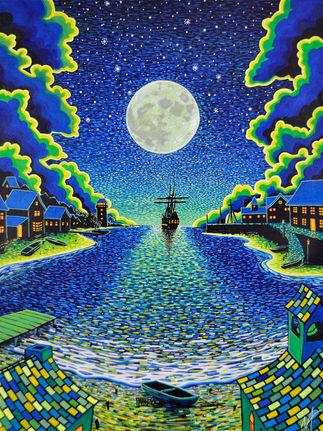 'Moonlight Mooring' (2019) - Avilable