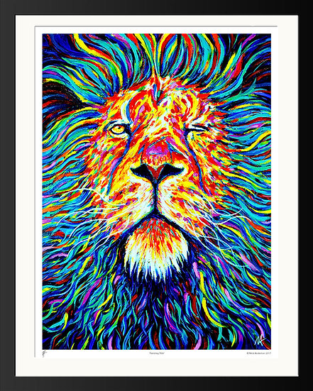 'King' Signed Print