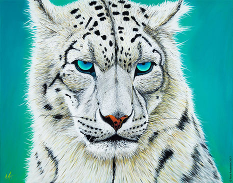 'Snow Leopard' (2017) - SOLD