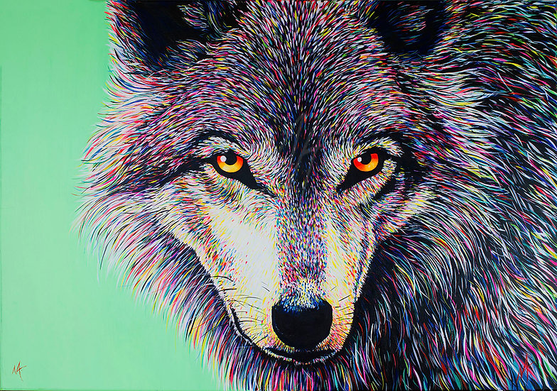 'Spectral Wolf' Original Painting