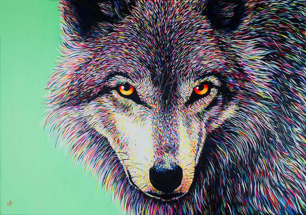 'Spectral Wolf' (2016) - SOLD