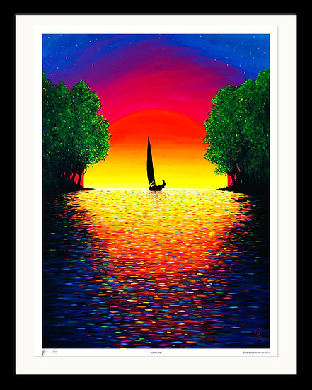 'Sunset Sail' Limited Edition Signed Print