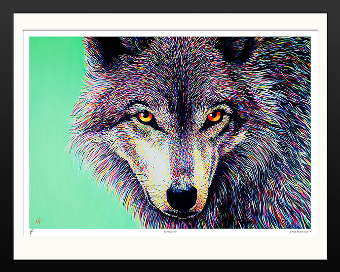 'Spectral Wolf' Signed Print