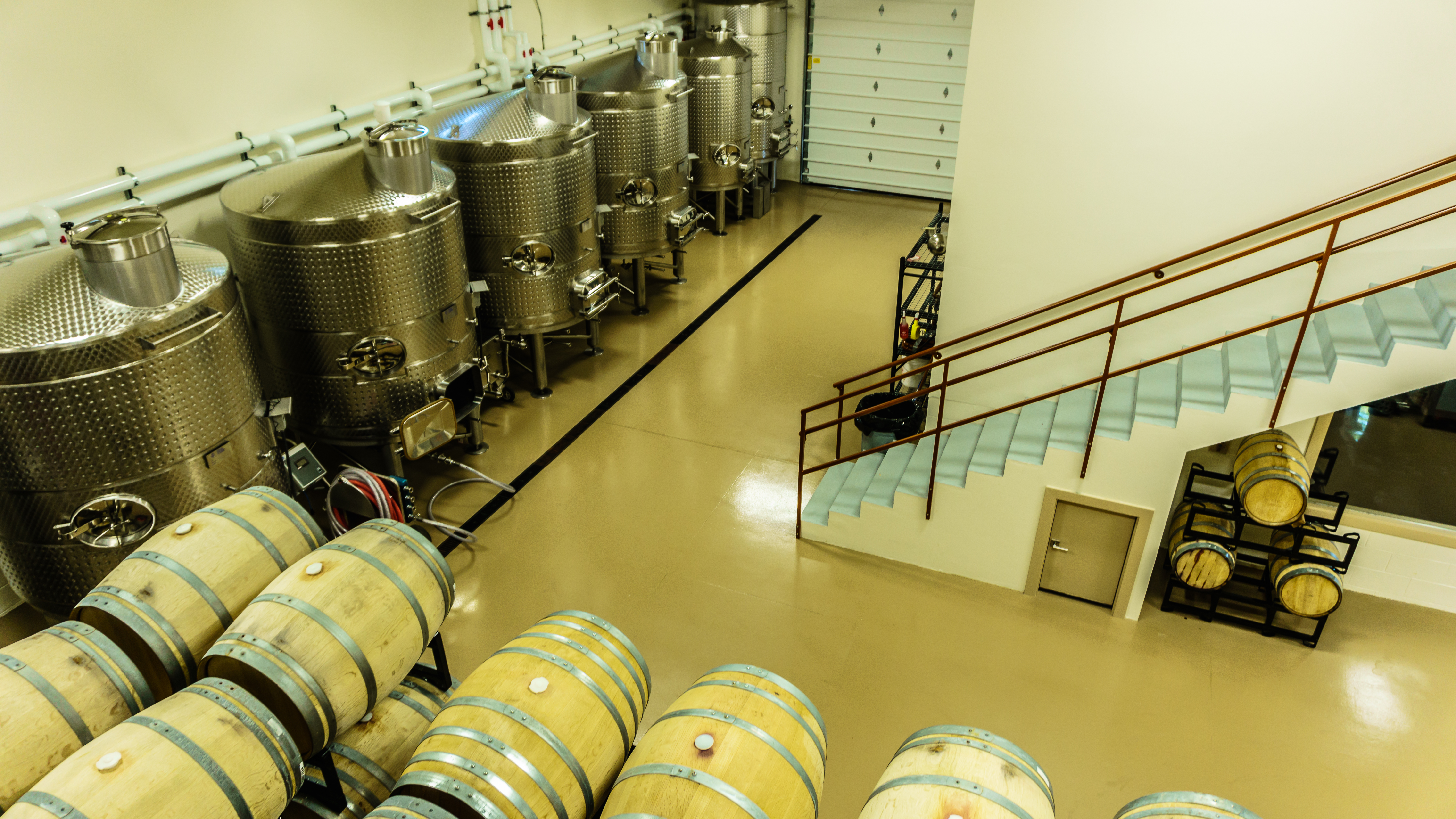 Inside Cooper Ridge Vineyard winery