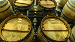 Racked barrels Cooper Ridge Vineyard