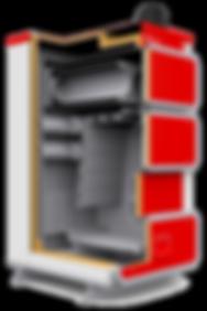 Твердотопливный котел отопления Heiztechnik q plus dr разрез