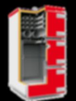 Промышленный твердотопливный котел отопления Heiztechnik Q MAX PLUS DR разрез