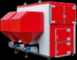 Промышленный твердотопливный котел отопления Heiztechnik Q MAX EKO