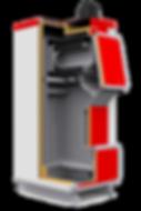 Твердотопливный котел отопления Heiztechnik q plus comfort разрез