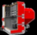 Промышленный твердотопливный котел отопления Heiztechnik Q Max Eko Duo разрез