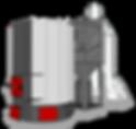 Вертикальный, трехтяговый автоматический котел для сжигания биомассы
