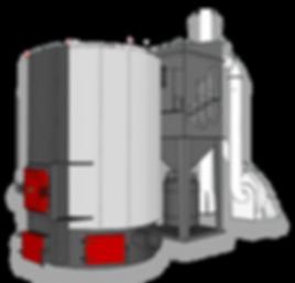 Промышленный твердотопливный котел отопления Heiztechnik MegaBio by Ventil