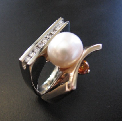 Pearl Ring designed by Brooke Sutphin, b.shannon designs