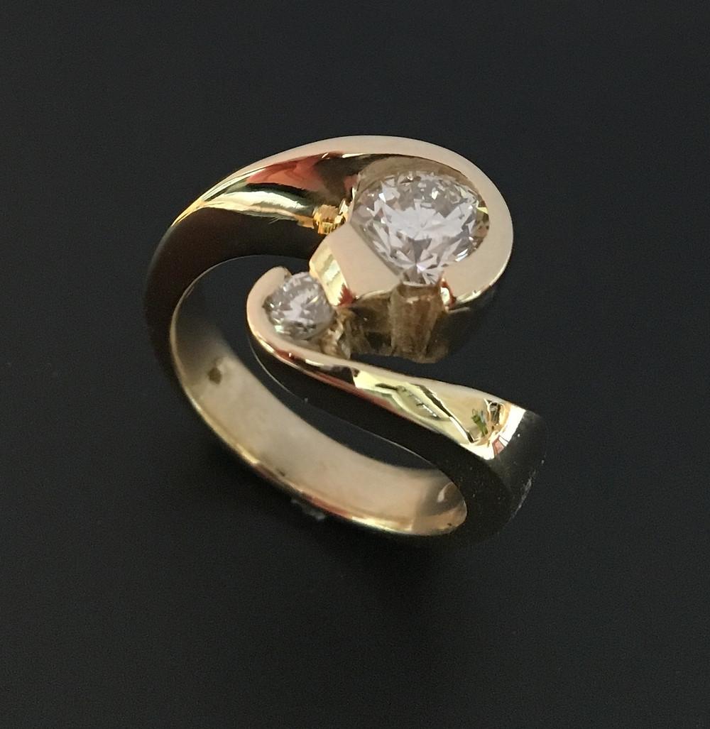 custom diamond anniversary ring