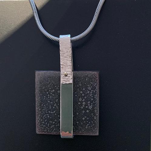 Sterling & Copper Enamel Pendant