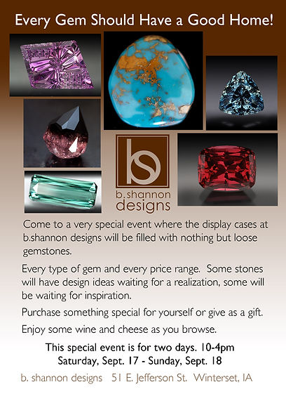 b.Shannon Designs Every Gem Event Invitation - 2 day event in Winterset, Iowa, September 17 and 18