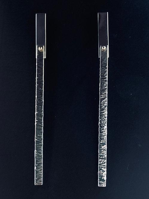 Sterling & 14ky Rivet Earrings