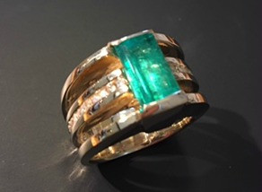 Custom designing jewelry and shopping local...