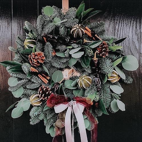 DIY Festive Christmas Door Wreath Box