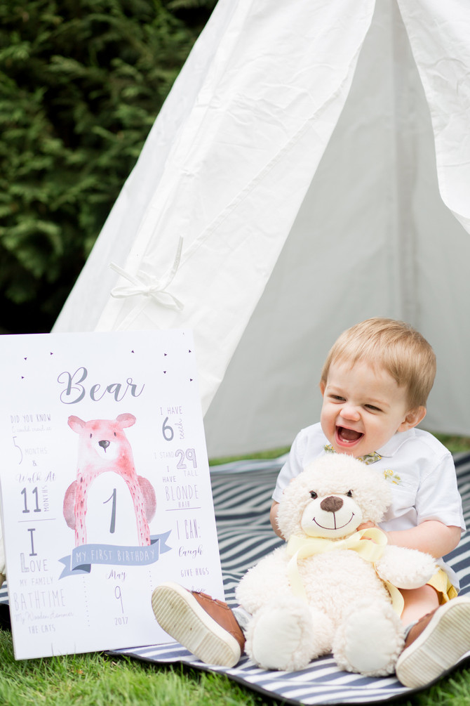 Bears Glistening & 1st Birthday