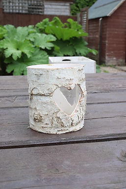 Small Birch Heart Vase