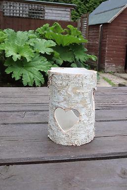 Large Birch Heart Vase